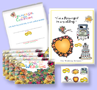 flowergirl Kit , Flower-Girl Certificate & Flower Girl Postcards